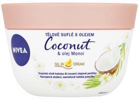 NIVEA Telové suflé s olejom Coconut & olej Monoi 200 ml