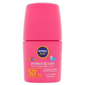NIVEA Sun Protect & Play Detské farebné mlieko na opaľovanie guľôčkové OF 50+ 50 ml