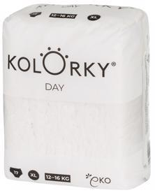 KOLORKY DAY NATURE - XL (12-16 kg) - 17 ks - jednorazové eko plienky