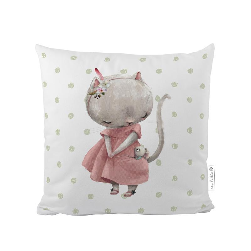 MR. LITTLE FOX Detský vankúš Forest school-little mouse