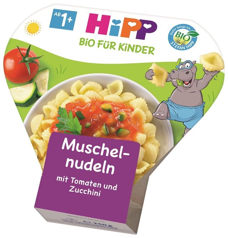 HiPP Príkrm zeleninový BIO Cestoviny s paradajkami a cuketou 250g