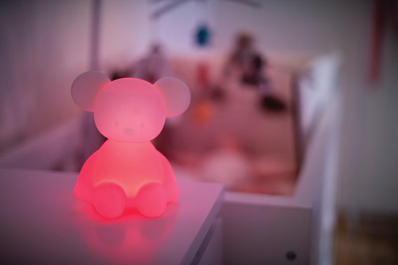 NATTOU Svetielko nočné silikónové so senzorom plaču Lapidou myška