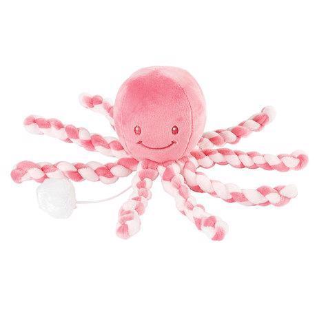 První hračka miminka hrající chobotnička PIU PIU Lapidou pink coral - light pink 0m +