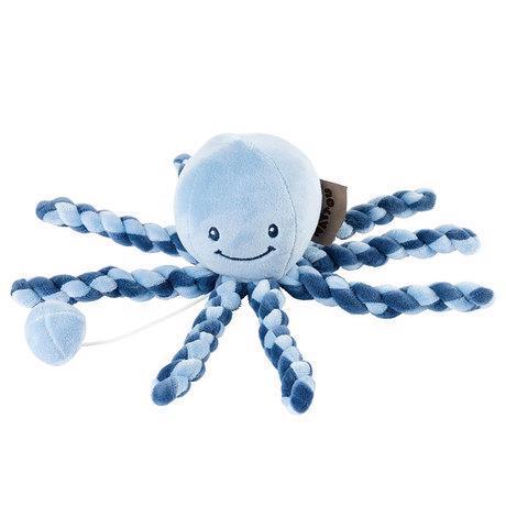 První hračka miminka hrající chobotnička PIU PIU Lapidou navy blue - light blue 0m +