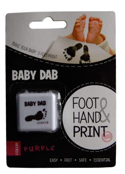 BABY DAB Farba na detské odtlačky - fialová