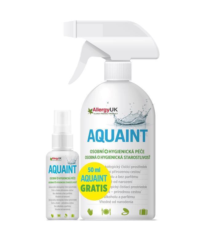 Aquaint 100% ekologická čistiaca voda 500ml+50ml gratis