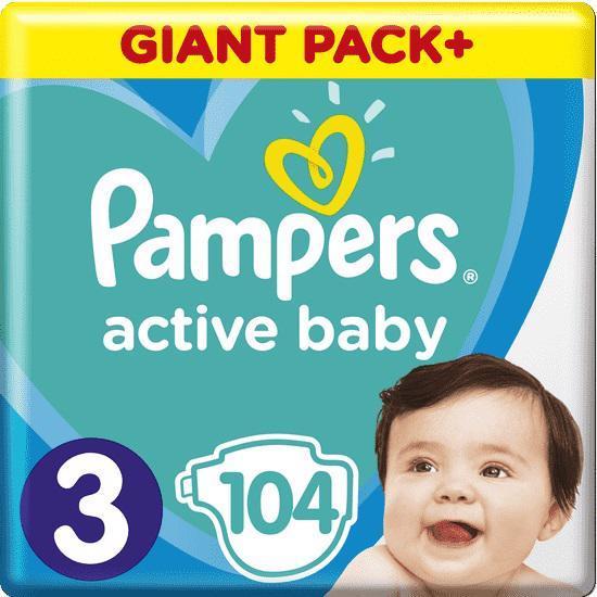 PAMPERS Plienky Active Baby 3 MIDI 6-10kg 104ks