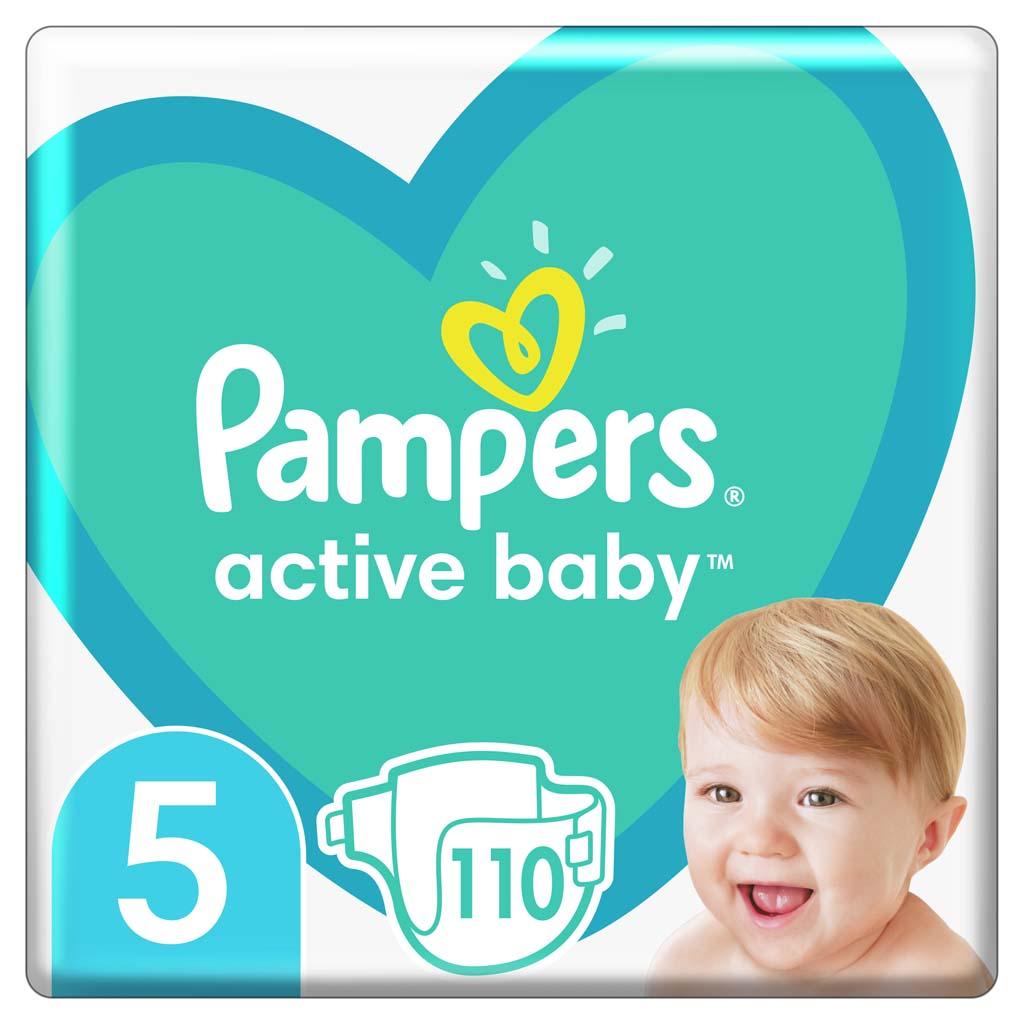 PAMPERS Plienky Active Baby 5 JUNIOR 11-16kg 110ks