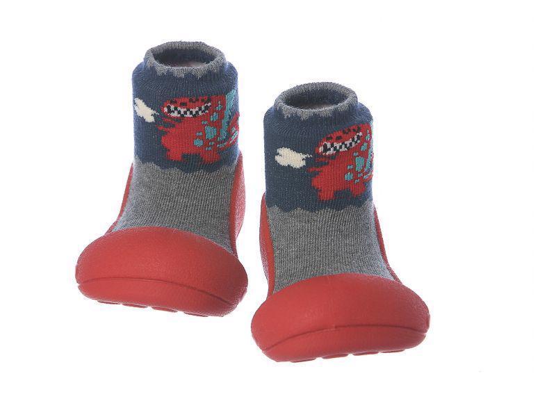 ATTIPAS Topánočky detské Dinosaur Red L