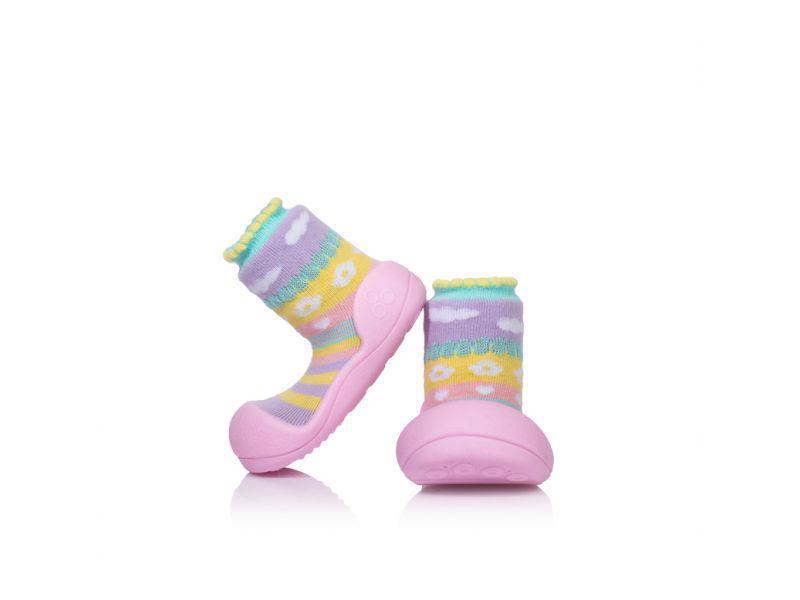 ATTIPAS Topánočky detské Attibebe Pink S