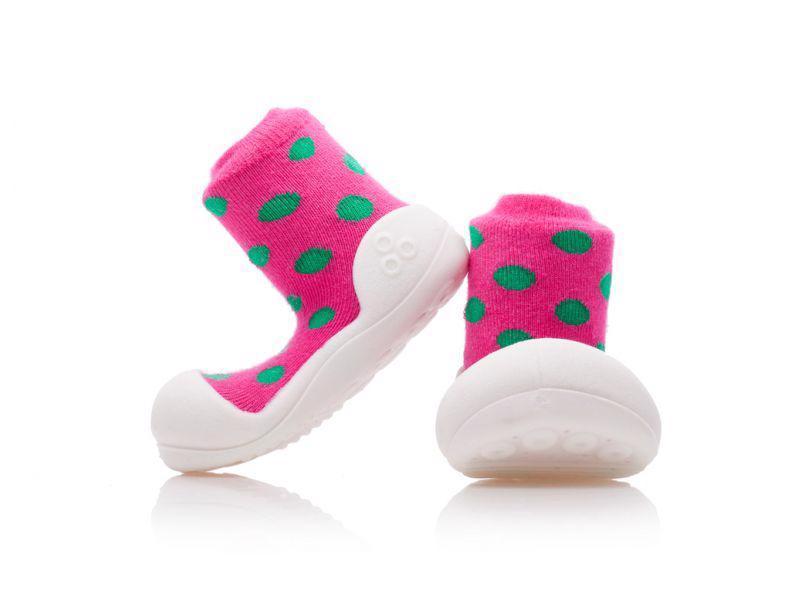 ATTIPAS Topánočky detské Polka Dot Pink S