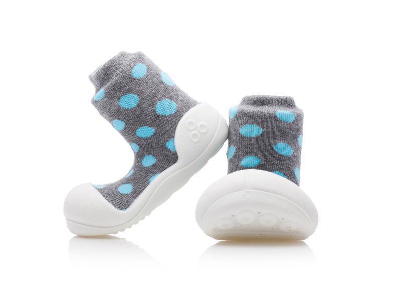 ATTIPAS Topánočky detské Polka Dot Grey L