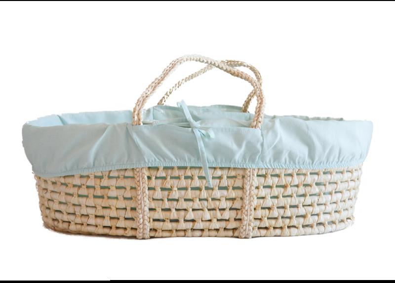 AHOJBABY Poťah do Mojžišovho košíka pre bábätko Mint