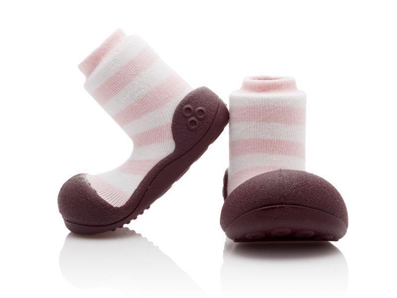 ATTIPAS Topánočky detské Natural Herb Pink S