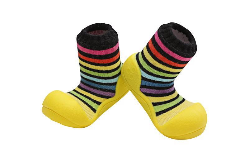 ATTIPAS Topánočky detské Rainbow Yellow XXL