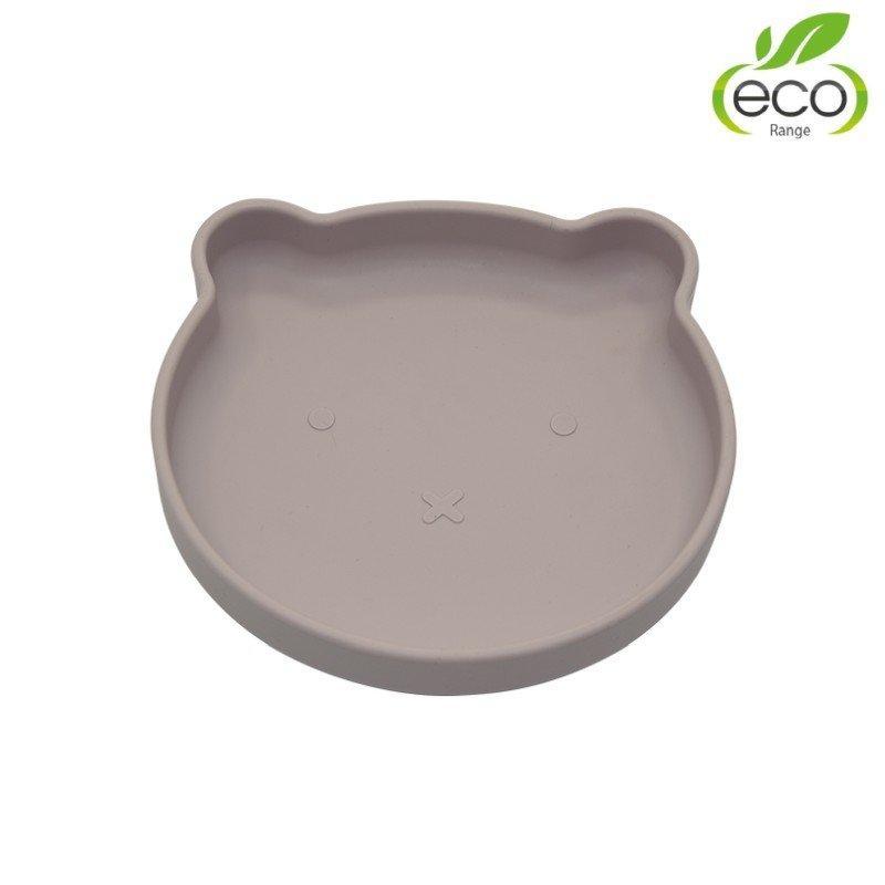 BO JUNGLE Silikónový tanier s prísavkou Bear Pastel Pink