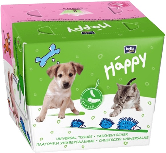 BELLA HAPPY papierové vreckovky 80 ks (farebná krabička s 2 otvormi)
