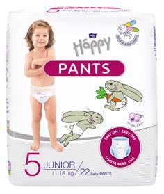BELLA HAPPY Pants Junior (11-18 kg) 22 ks – jednorazové plienky