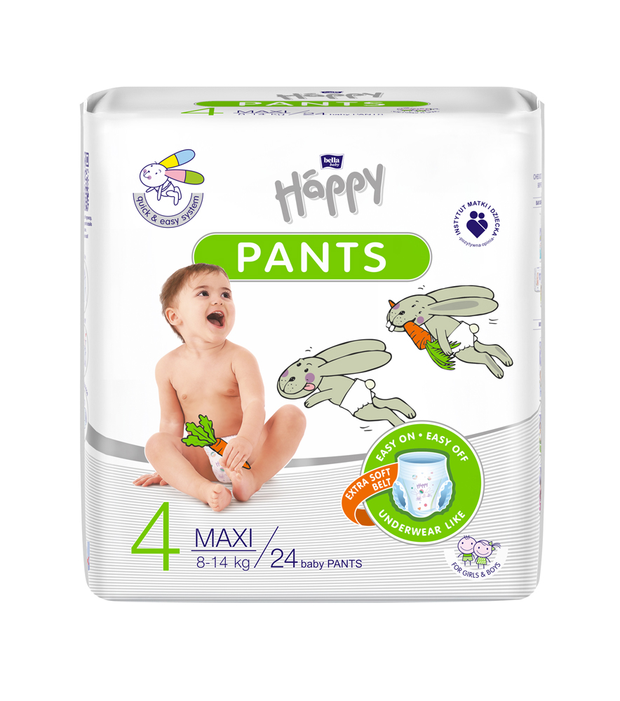 BELLA HAPPY Pants Maxi (8-14 kg) 24 ks – jednorazové plienky