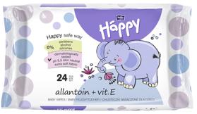 BELLA HAPPY BABY Vlhčené obrúsky s vitamínom E 24 ks