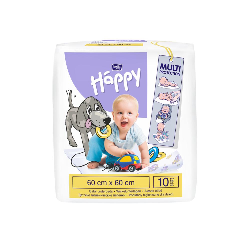 BELLA HAPPY BABY Detské prebaľovacie podložky 60 x 60 cm (10 ks)