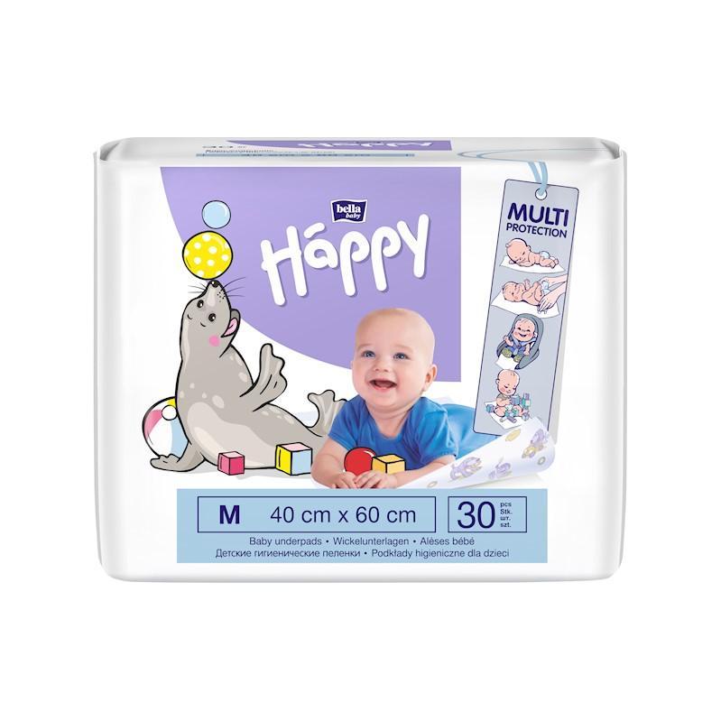 BELLA HAPPY Detské hygienické podložky 40x60 cm 30 ks