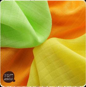 KIKKO Obrúsky bambusové Colours 30x30 (9 ks) – lime, lemon, orange