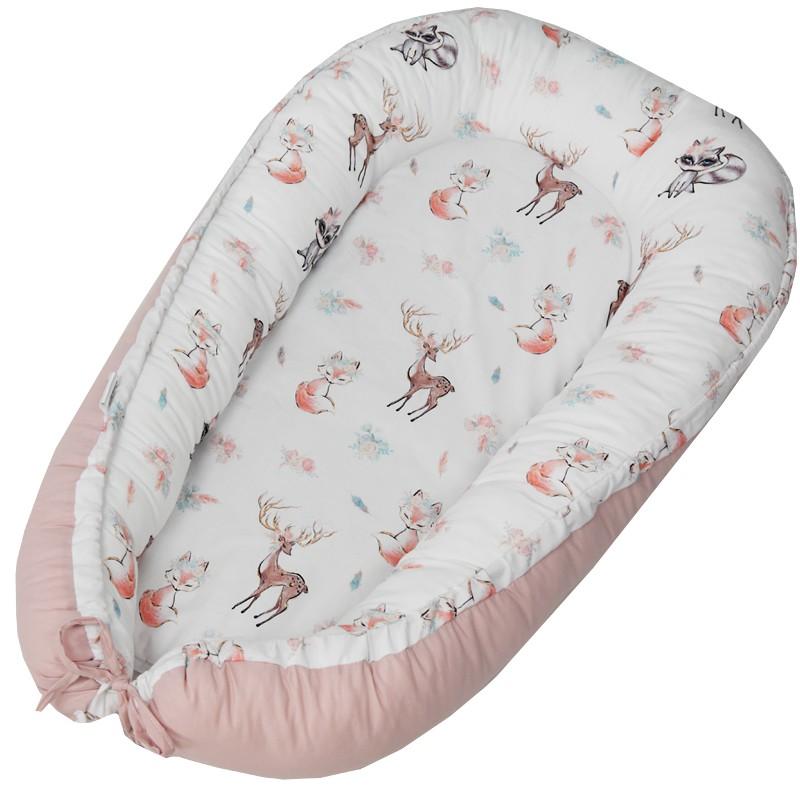 EKO Hniezdo pre bábätko bavlnené Fawns 90x60 cm