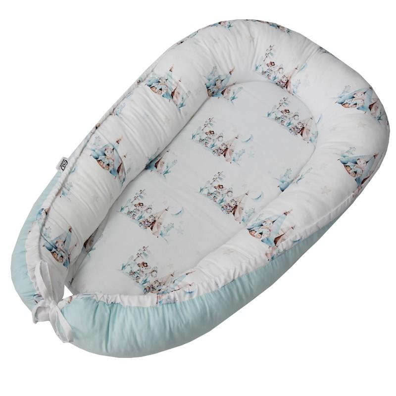 EKO Hniezdo pre bábätko bavlnené Western 90x60 cm