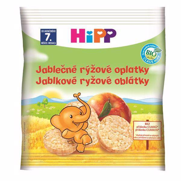 HiPP BIO Jablkové ryžové oblátky pre deti 30 g