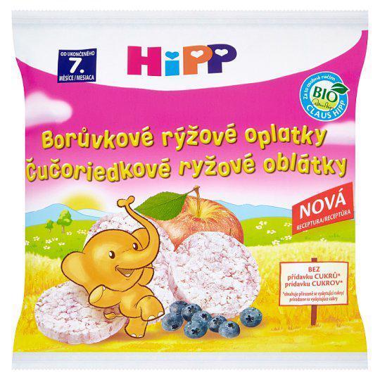 Oblátky BIO detské ryžové čučoriedkové 30g HIpp