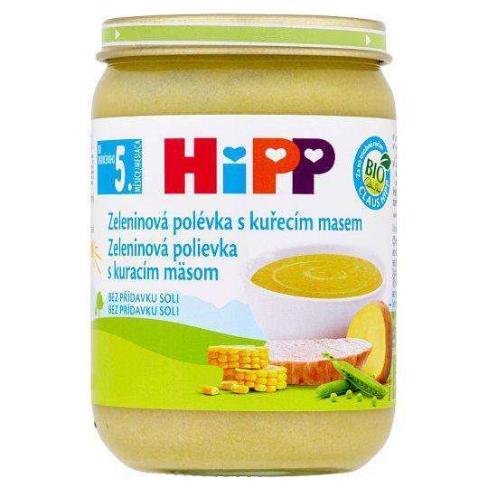 HIPP BIO Zeleninová polievka s kuracím mäsom (190 g)