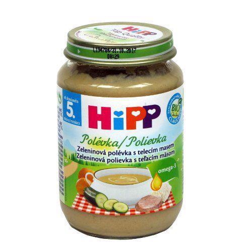 HiPP Polievka BIO zeleninová s teľacím mäsom 190g