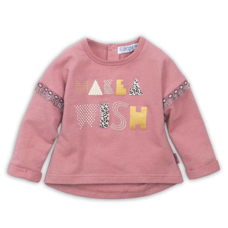 DIRKJE Mikina D-LOVE 86 Dark old pink