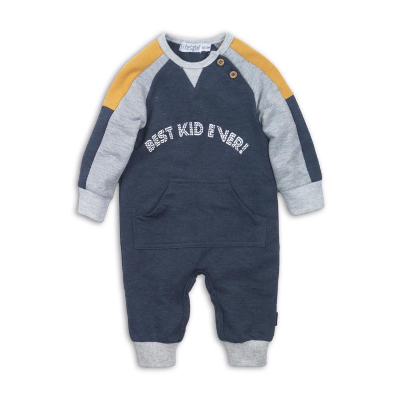 DIRKJE Set 1dielny D-JUST BE COOL BEST KID EVER 62 Navy melee+grey melee+ochre