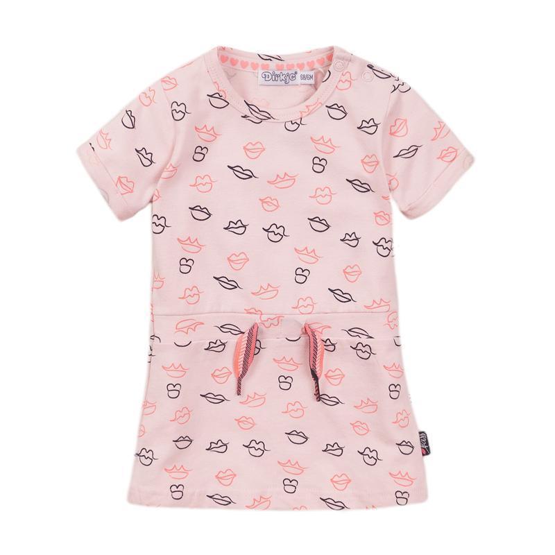 DIRKJE Šaty 86 Light Pink+aop