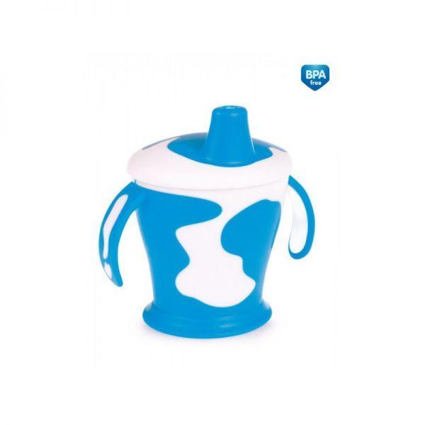 CANPOL BABIES Hrnček nevylievajúci kravička 9+ 250 ml modrý