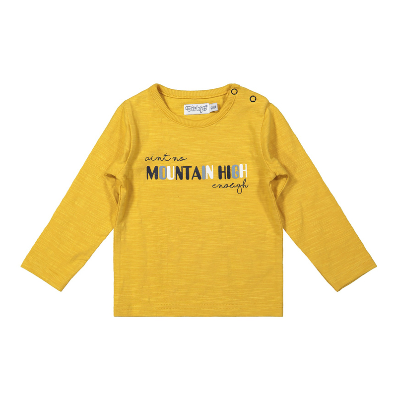 DIRKJE Tričko dl. rukáv Žlté chlapec 68