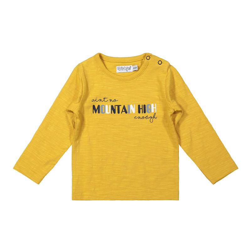 DIRKJE Tričko dl. rukáv Žlté chlapec 74