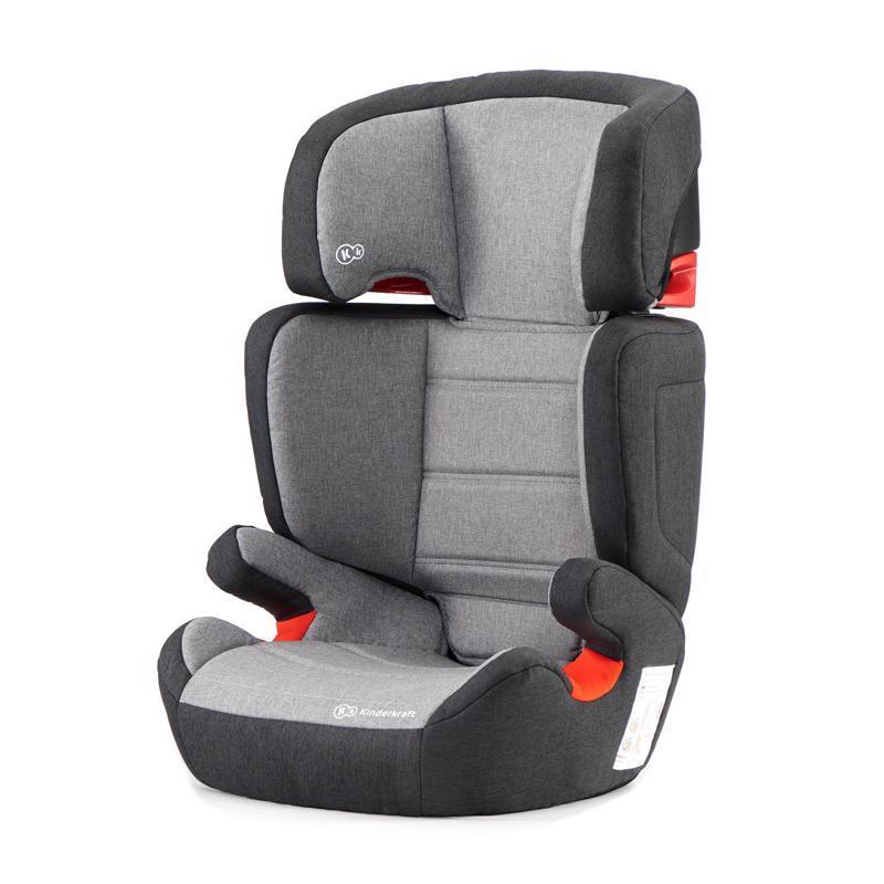 KINDERKRAFT Autosedačka Junior Fix Isofix Black/Gray 15-36 kg