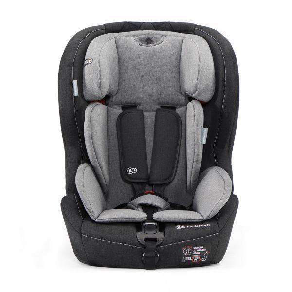 KINDERKRAFT Autosedačka Safety-Fix Isofix Black/Gray 9-36 kg