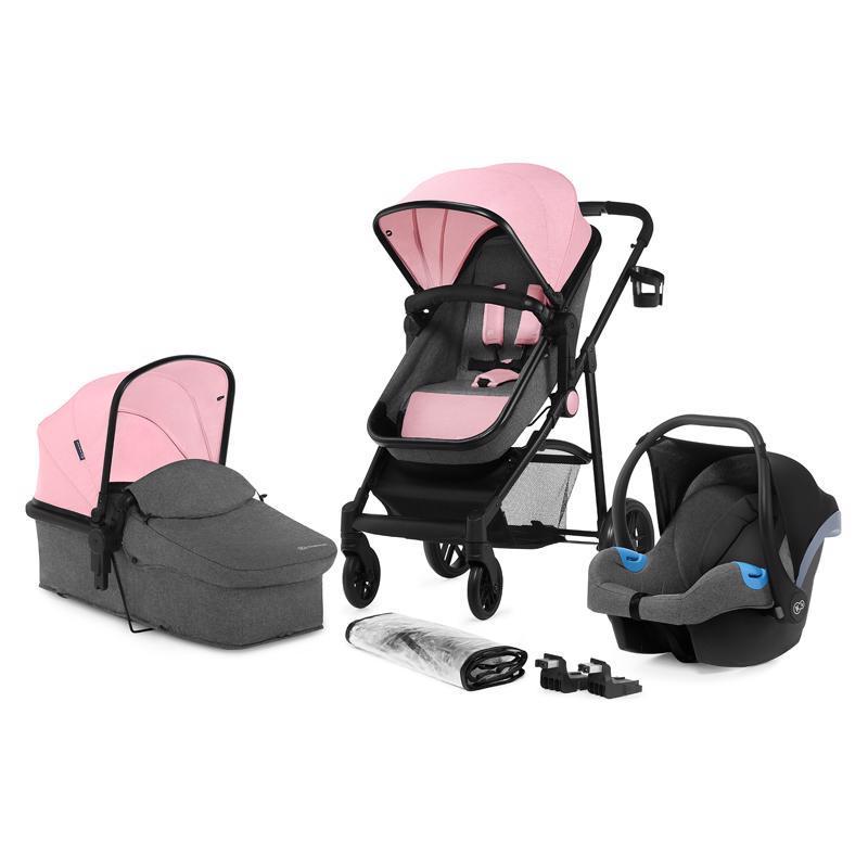 Kočárek kombinovaný Juli 3v1 Pink Kinderkraft 2019