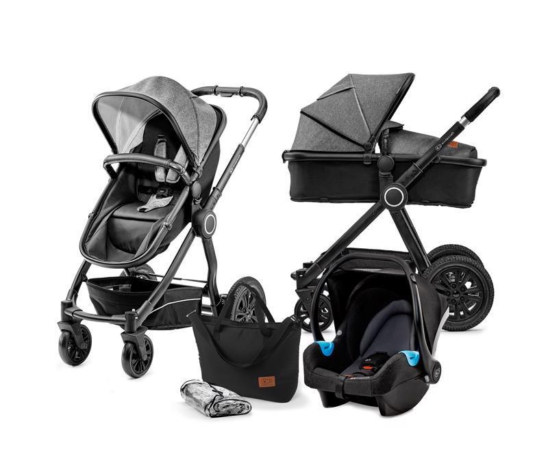 Kočík kombinovaný Veo black/grey 3v1 Kinderkraft