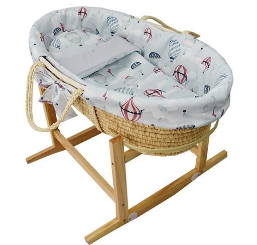 EKO Kôš Mojžišov pre bábätko Natural so stojanom matrac + príslušenstvo Ballons