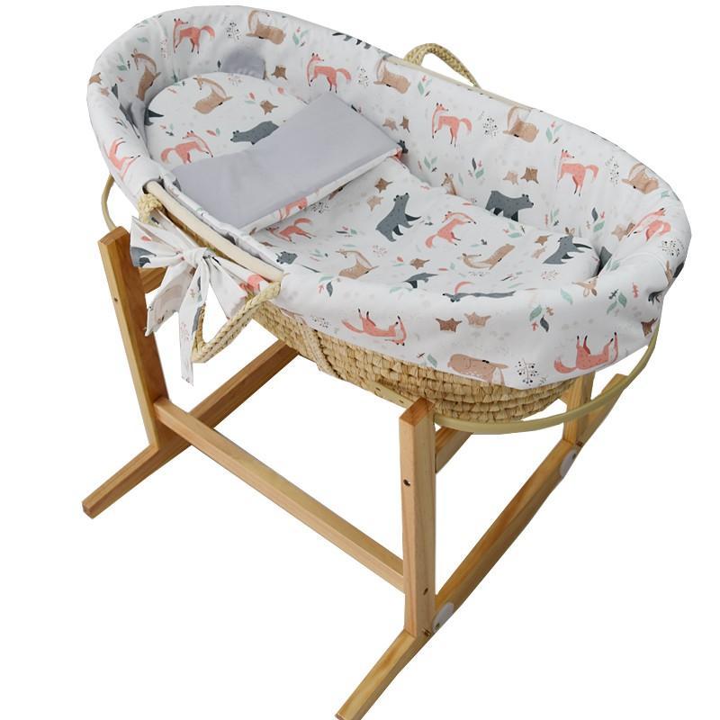 EKO Kôš Mojžišov pre bábätko Natural so stojanom matrac + príslušenstvo Roe-Deer