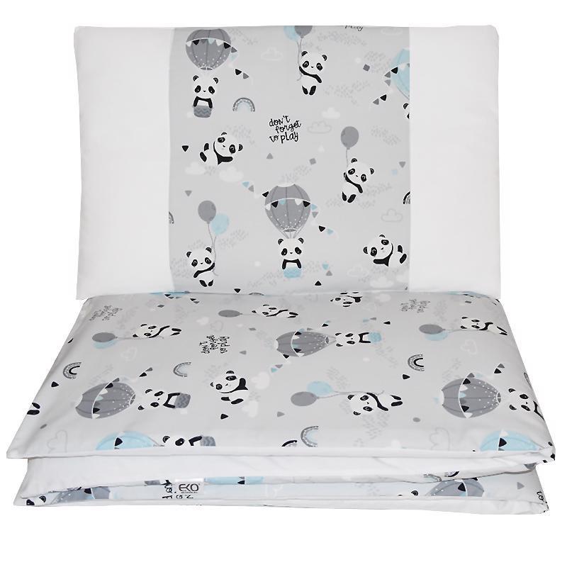 EKO Bielizeň posteľná 2-dielna Panda 90x120cm + 40x60cm