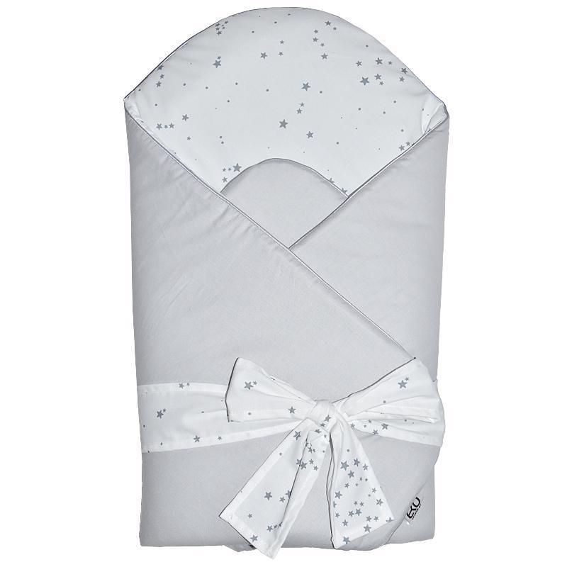 EKO Zavinovačka bavlnená s potlačou a kokosovým vnútrom Grey 75x75cm