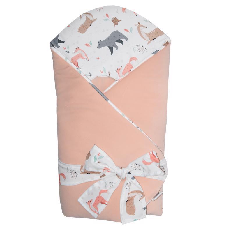 EKO Zavinovačka bavlnená VELVET Roe-Deer Apricot 75x75cm