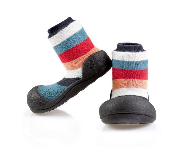 ATTIPAS Topánočky detské Rainbow Black M