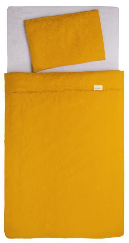 BABYMATEX Bielizeň posteľná Muslin Svetlo Horčicová 3-dielna